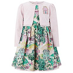 Monsoon - Baby girls' green 'sasha' 2 in 1 dress