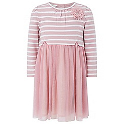 Monsoon - Baby girls' pink 'mary lou' 2 in 1 dress