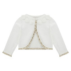 Monsoon - Baby girls' white connie cardigan
