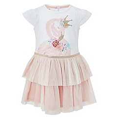 Monsoon - Baby girls' frill flamingo 2 In 1 dress