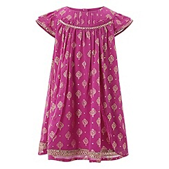 Monsoon - Baby girls' purple kendella dress