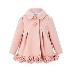 Monsoon - Baby girls' pink 'ellie' roses coat