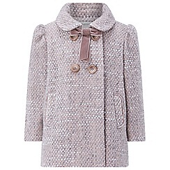 Monsoon - Baby girls' pink Sybil Tweed Coat