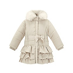 Monsoon - Baby girls' cream 'molly' champagne coat