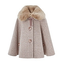 Monsoon - Baby girls' pink 'charlotte' sparkle cape