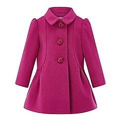 Monsoon - Baby girls' pink 'hannah' hot pink coat