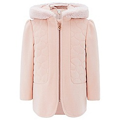 Monsoon - Pink baby demi duffle coat
