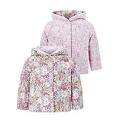 Monsoon - Baby girls' multicoloured newborn 'marsha' reversible jacket