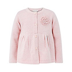 Monsoon - Baby girls' pink 'adela' cardigan