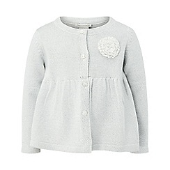 Monsoon - Baby girls' silver 'adela' cardigan