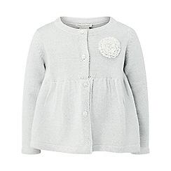 Monsoon - Baby girls' silver 'adela' cardigan