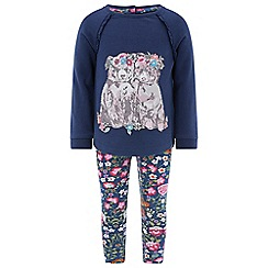 Monsoon - Baby girls' blue Bella Bears Sweat Set