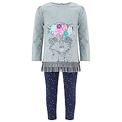 Monsoon - Baby girls' grey Roxy Racoon Set