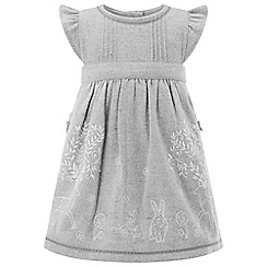 Monsoon - Baby girls' grey Matilda Tweed Pinny