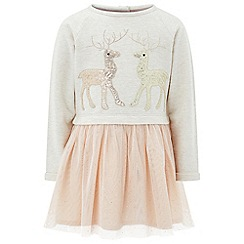 Monsoon - Brown baby 'Rhea Reindeer' 2 in 1 dress