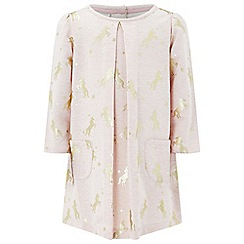 Monsoon - Pink baby Erin unicorn sweat tunic
