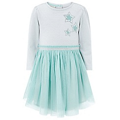 Monsoon - Blue baby Lindie 2 in 1 dress