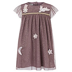 Monsoon - Purple baby Lucinda star & moon dress