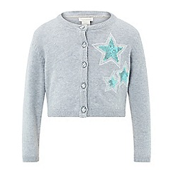 Monsoon - Grey baby Kirsty star cardigan