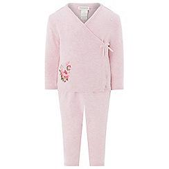 Monsoon - Pink 'Jodie' wrap knit set