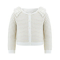 Monsoon - Baby girls' gold Grace Cardigan