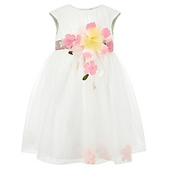 Monsoon - Baby girls' white buenita dress