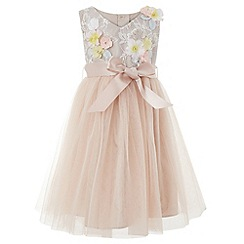 Monsoon - Baby girls' pink 'Seren' dress