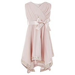 Monsoon - Baby girls' pink elouise dress