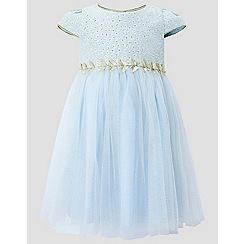 Monsoon - Baby girls' blue 'Aelina' dress