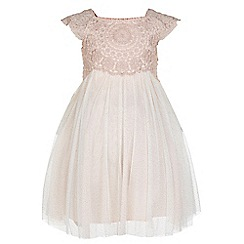 Monsoon - Baby girls' pink 'Estella' sparkle dress
