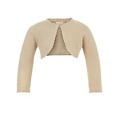 Monsoon - Baby girls' gold 'Niamh' cardigan