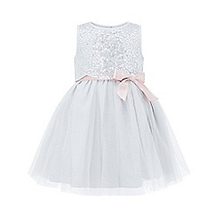 Monsoon - Baby girls' silver 'Aaliyah' dress