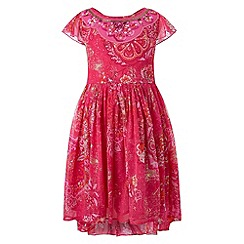 Monsoon - Girls' red hacienda high low dress