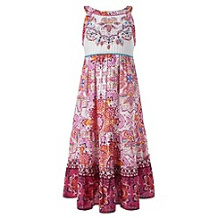 Monsoon - Girls' orange tamazula maxi dress