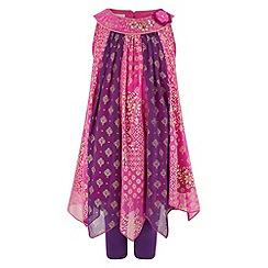 Monsoon - Girls' pink catrina tunic & leggings set