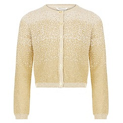 Monsoon - Girls' gold minnie metallic cardigan