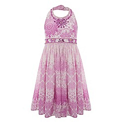 Monsoon - Girls' pink anita embellished ombre dress