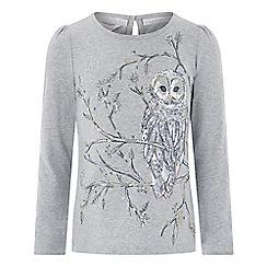 Monsoon - Girls' grey 'Orla' Owl top
