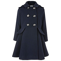 Monsoon - Girls' blue 'hallie' coat