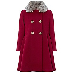 Monsoon - Girls' red 'elizabeth' coat