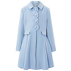 Monsoon - Girls' blue 'sadie' scallop coat