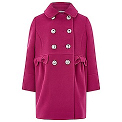 Monsoon - Girls' pink 'Penny' coat