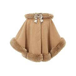 Monsoon - Girls' brown 'joanna' cape