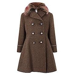 Monsoon - Girls' brown 'Keira' coat
