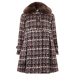 Monsoon - Girls' purple 'Nora' Tweed Coat