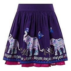 Monsoon - Girls' purple eliza elephant skirt