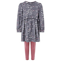 Monsoon - Girls' grey 'kansas' tunic and leggings set