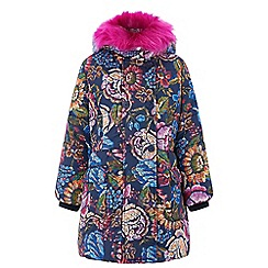 Monsoon - Girls' blue 'Tamala' padded coat