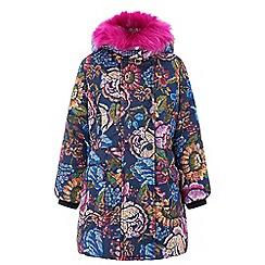 Monsoon - Girls' blue 'Tamala' padded puffball coat