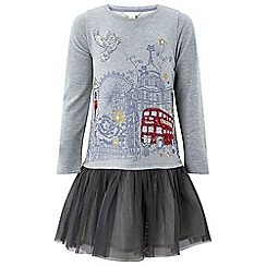 Monsoon - Girls' grey disco 'lottie' london dress